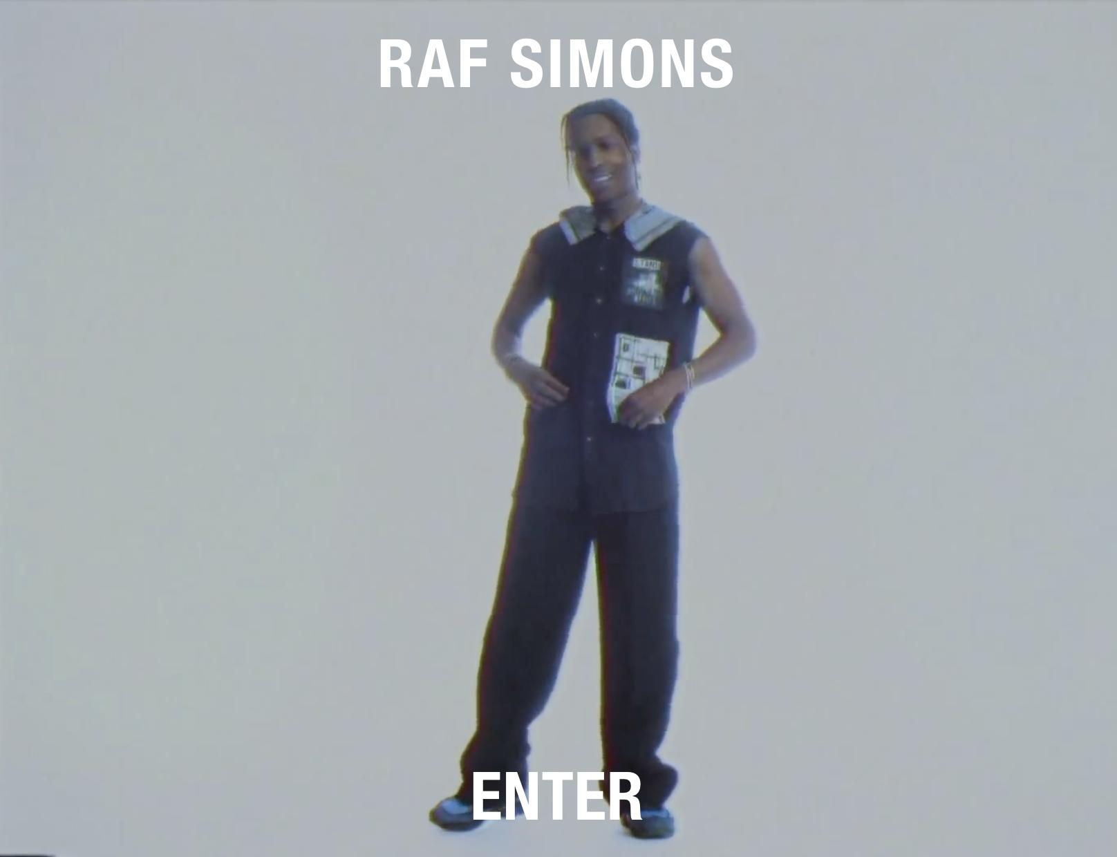 "Raf Simons Runs A$AP Rocky's ""RAF"" On His Website"