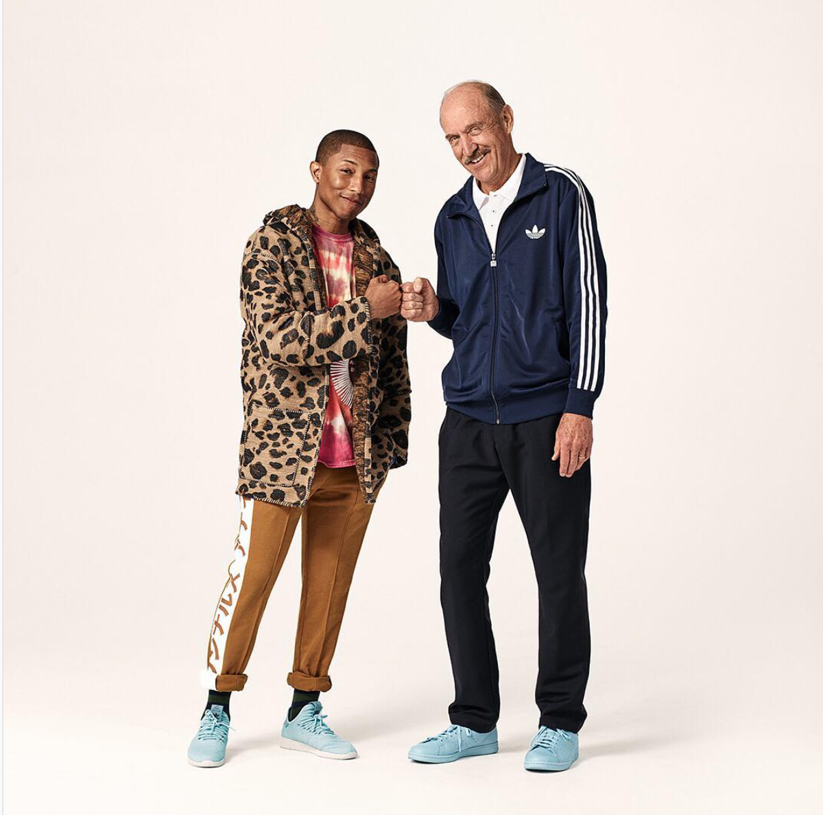 SPOTTED: Pharrell and Stan Smith in Tennis HU Sneakers
