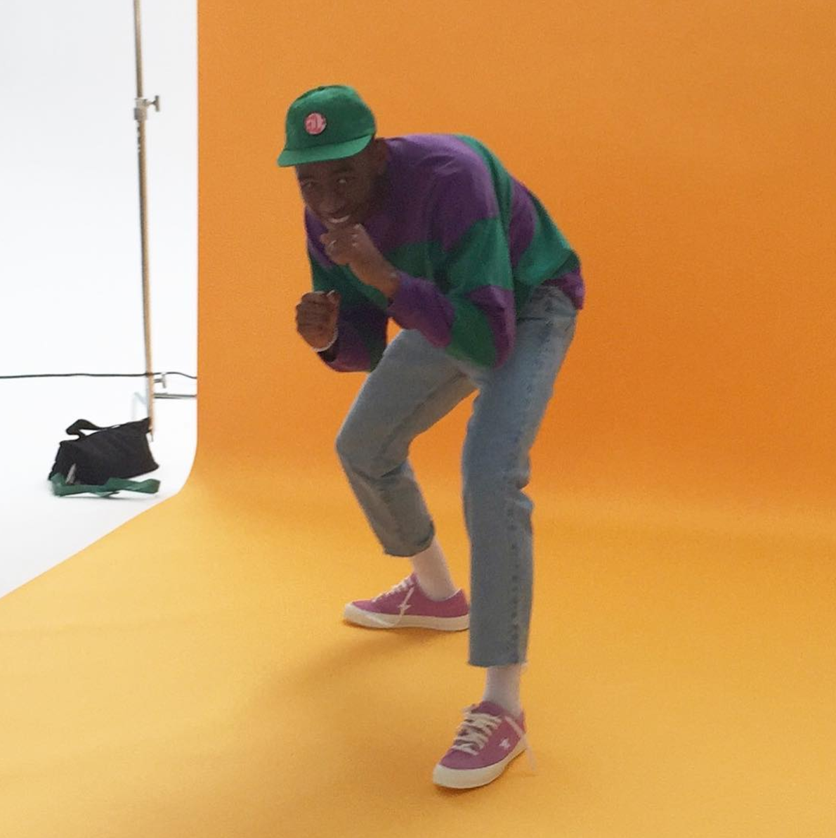 SPOTTED: Tyler, The Creator In His One Star x Golf Le Fleur Converse