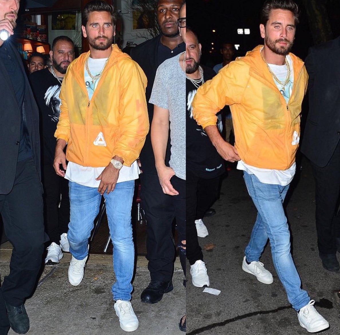 SPOTTED: Scott Disick In Palace Jacket And Heron Preston T-Shirt