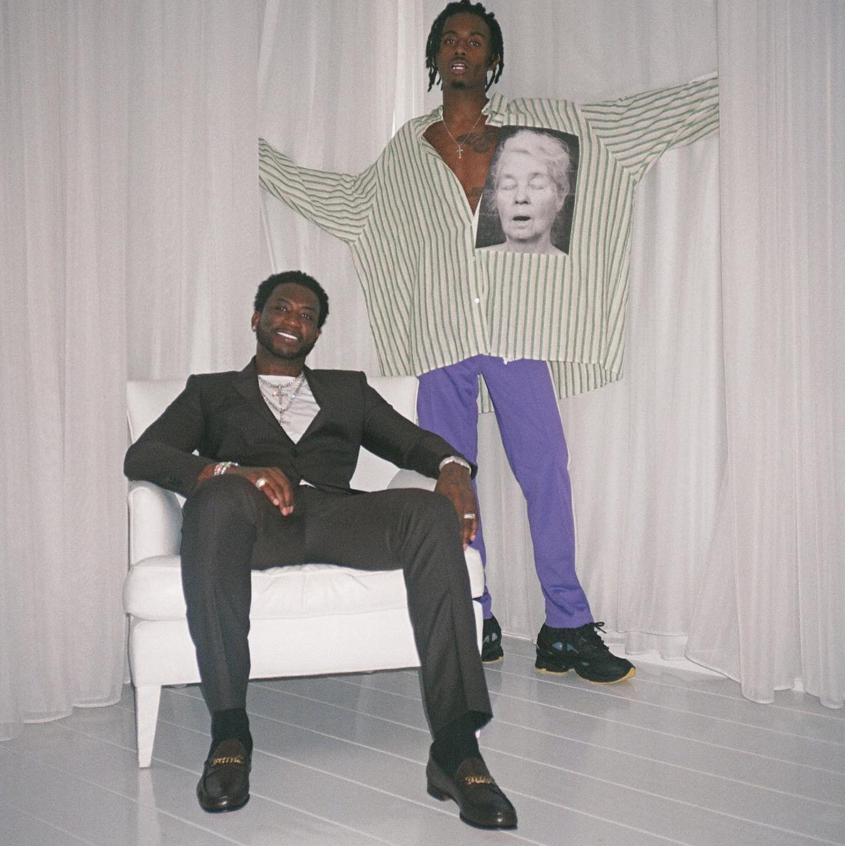 SPOTTED: Playboi Carti In Raf Simons Shirt, Sneakers And Palm Angels Pants