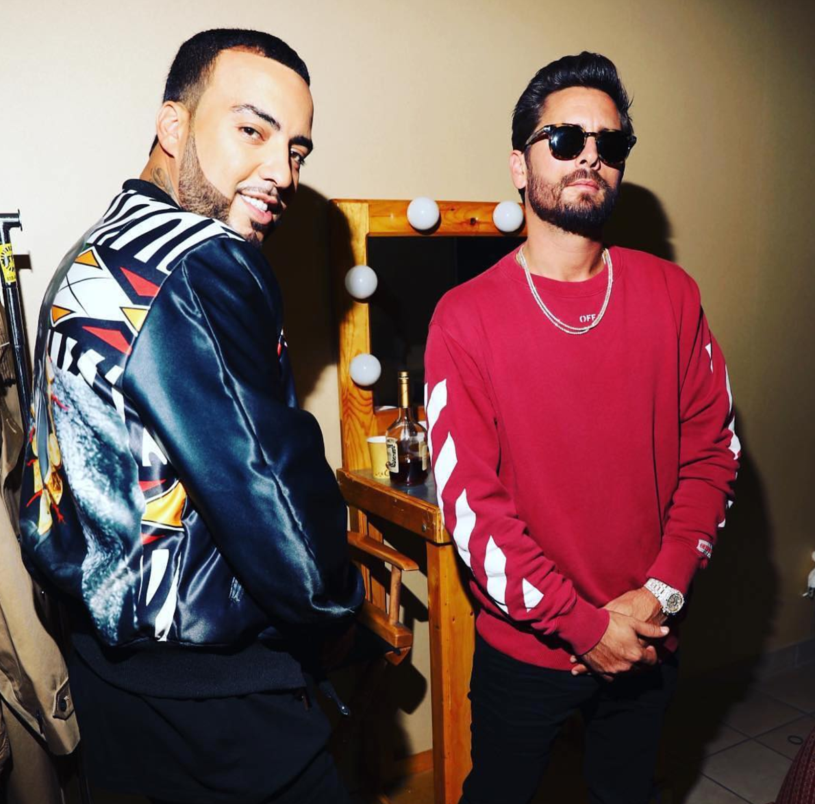 SPOTTED: French Montana In Gucci And Scott Disick In Off-White