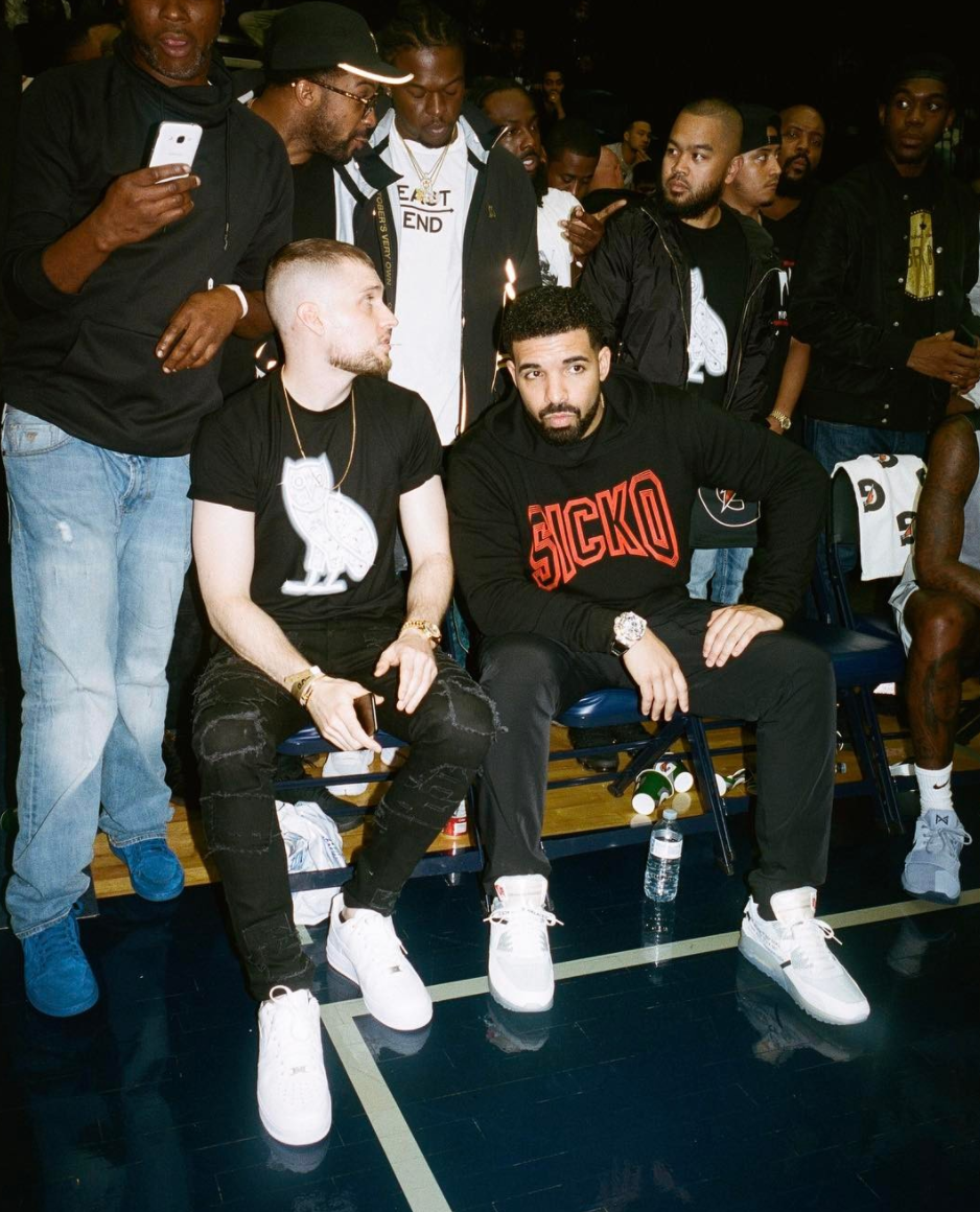 SPOTTED: Drake In Sicko Hoodie And Off-White x Nike Air Max 90 Sneakers