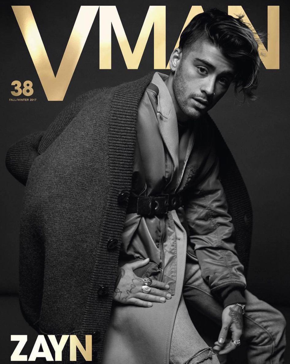SPOTTED: Zayn Malik In DSquared2 Cardigan, Bomber Jacket And Calvin Klein Coat