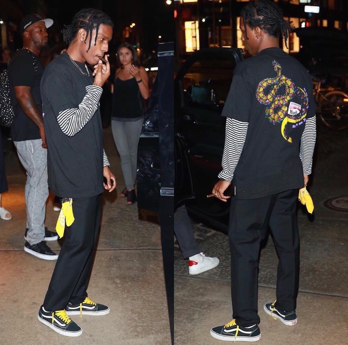SPOTTED: A$AP Rocky In Marlboro T-Shirt And Vans Sneakers