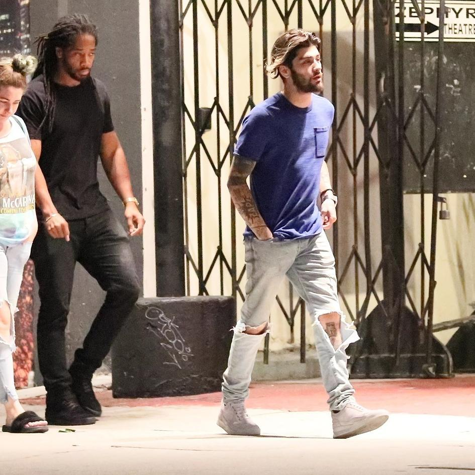 SPOTTED: Zayn Malik In Nike T-Shirt and Filling Pieces Sneakers