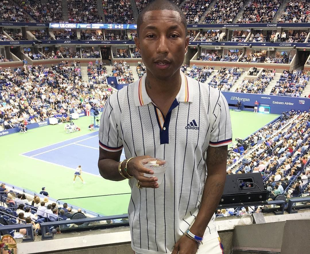 Get The Look: Pharrell in Adidas Tennis at US Open