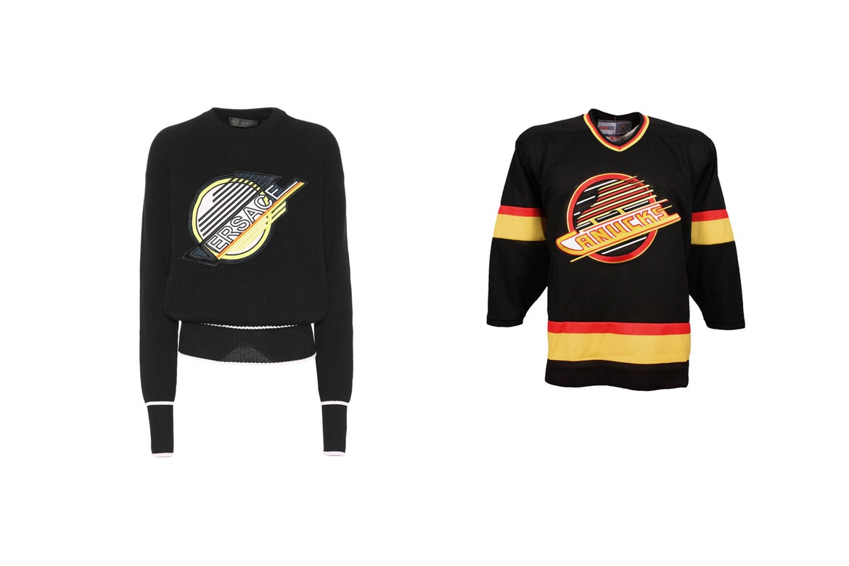 VERSACE drop Vancouver Cancucks Inspired Sweatshirt