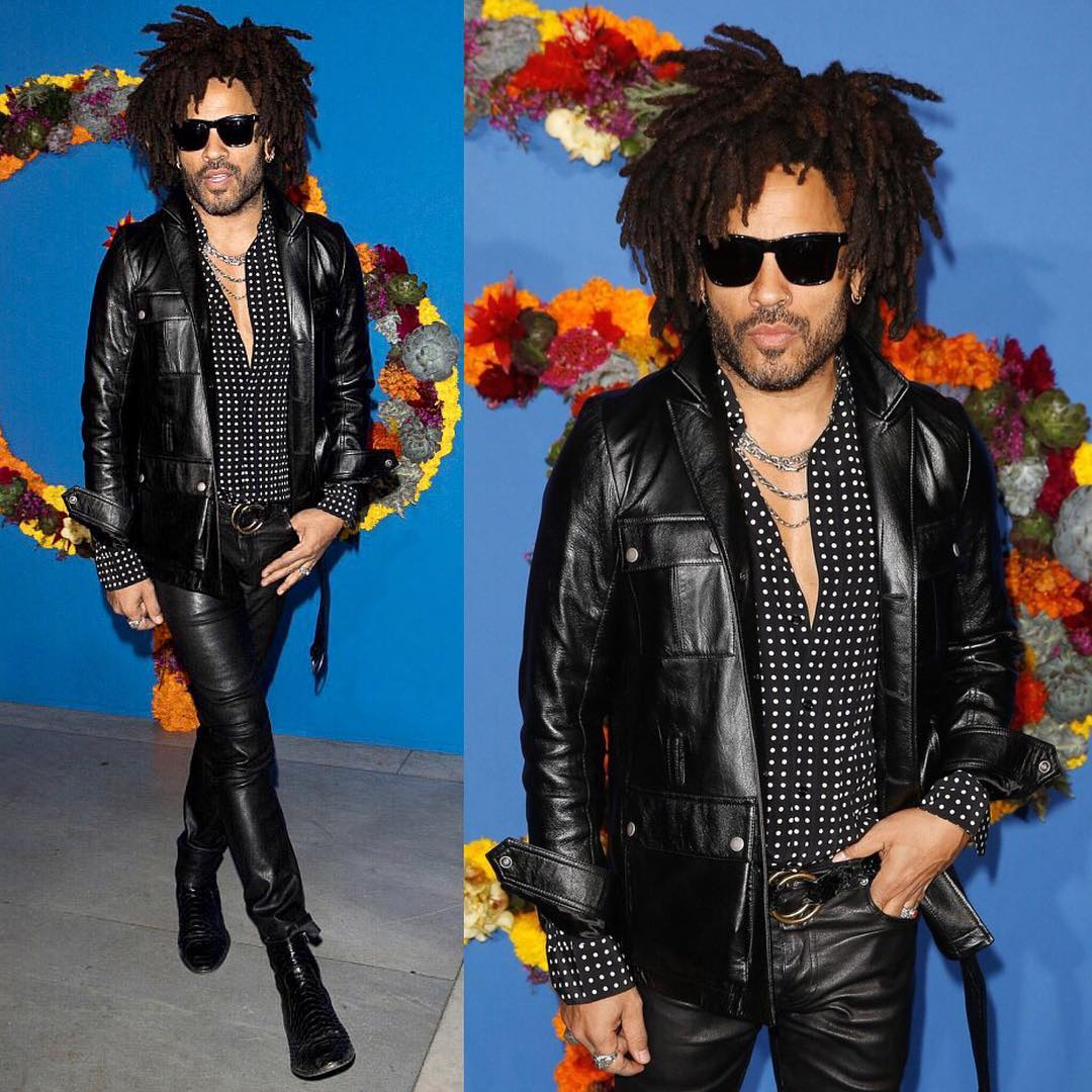 SPOTTED: Lenny Kravitz in Head-To-Toe YSL