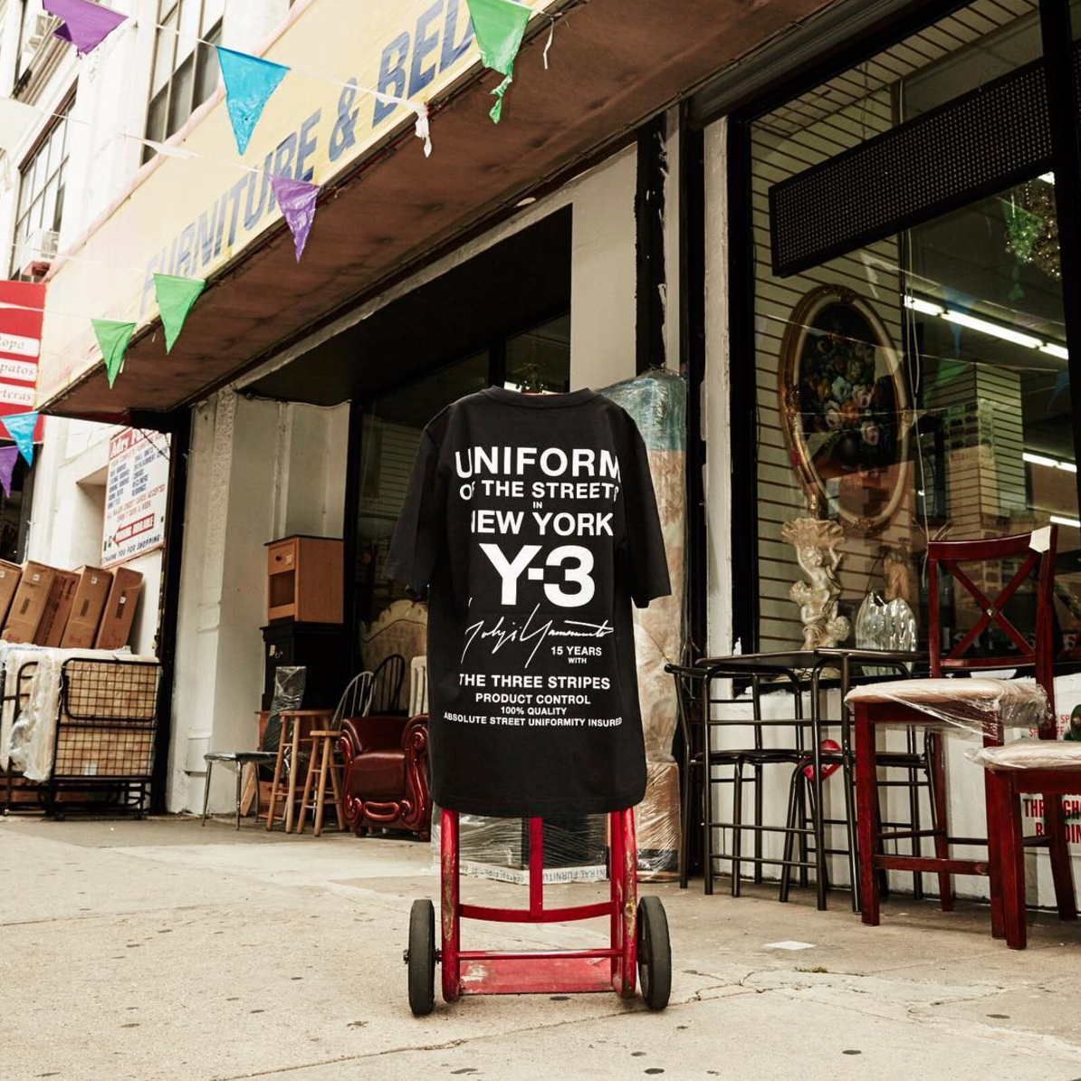 """Yohji Yamamoto Releases """"15 Years With Three Stripes"""" Limited Edition T-Shirt"""