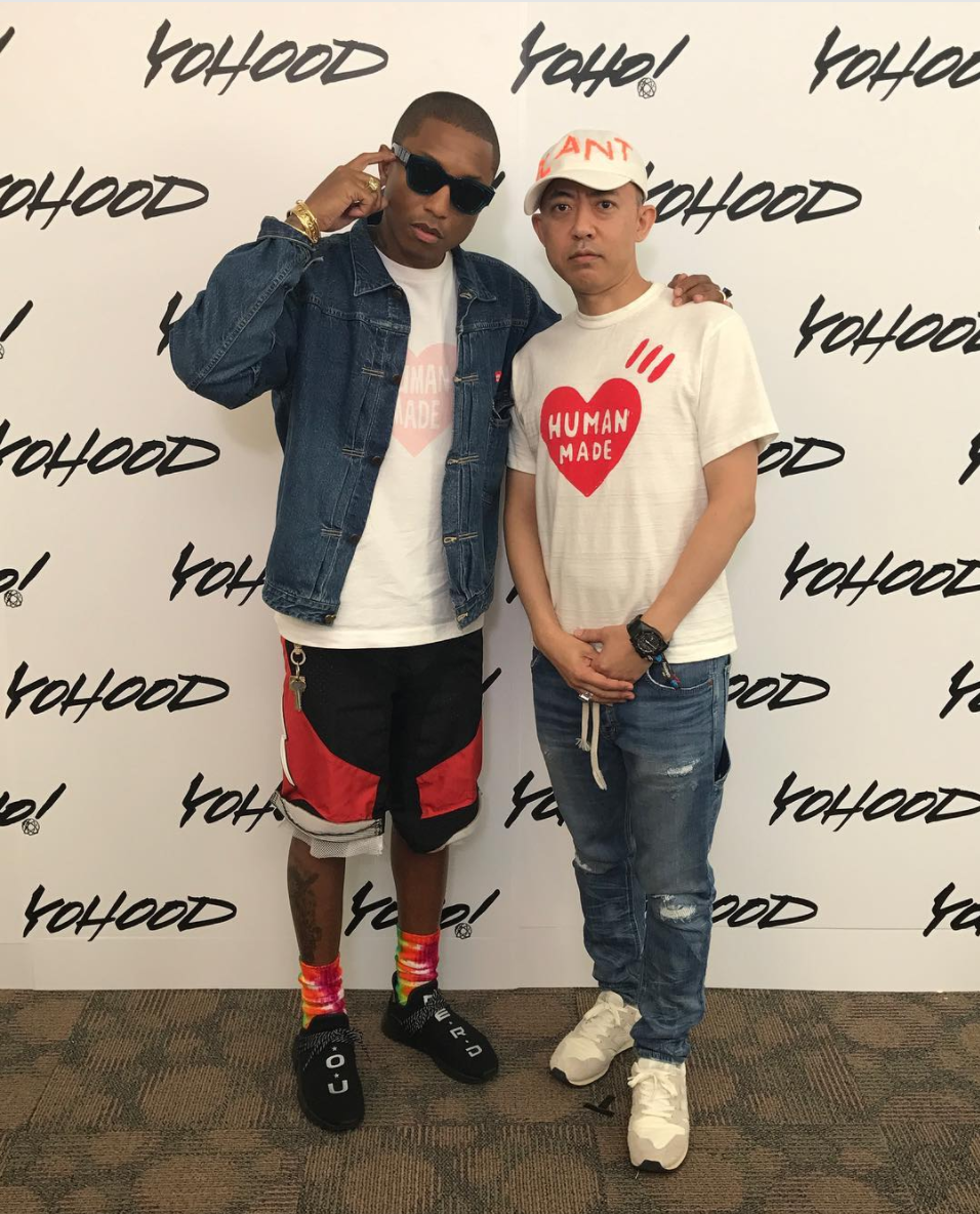 SPOTTED: Pharrell Williams And Nigo In Human Made T-Shirts