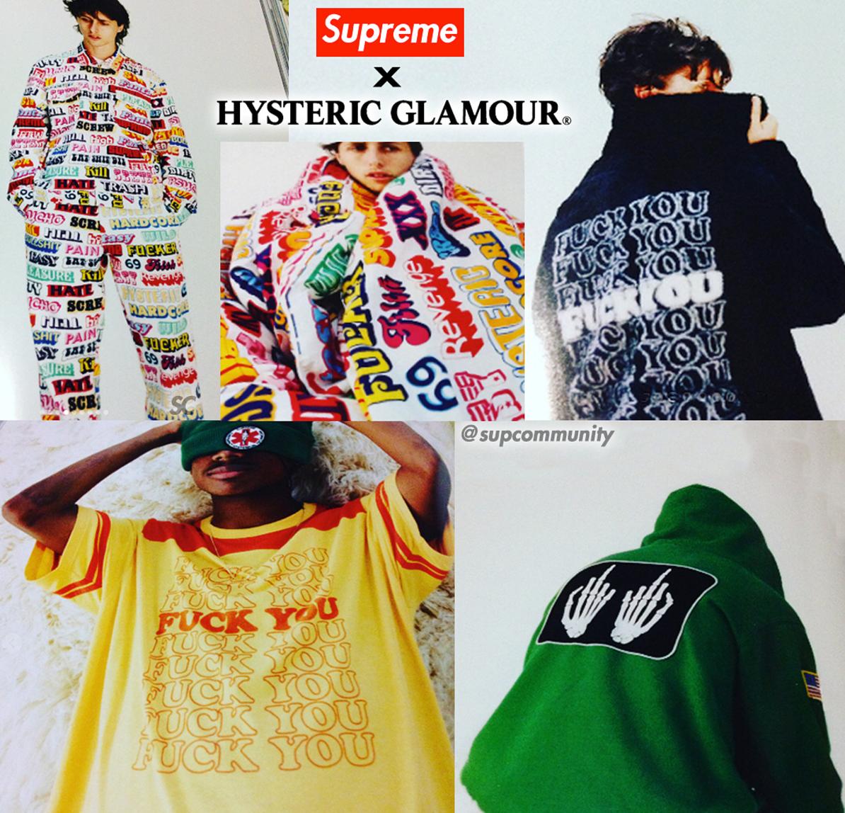 Supreme Announce Hysteric Glamour Collaboration Via SSENSE Magazine