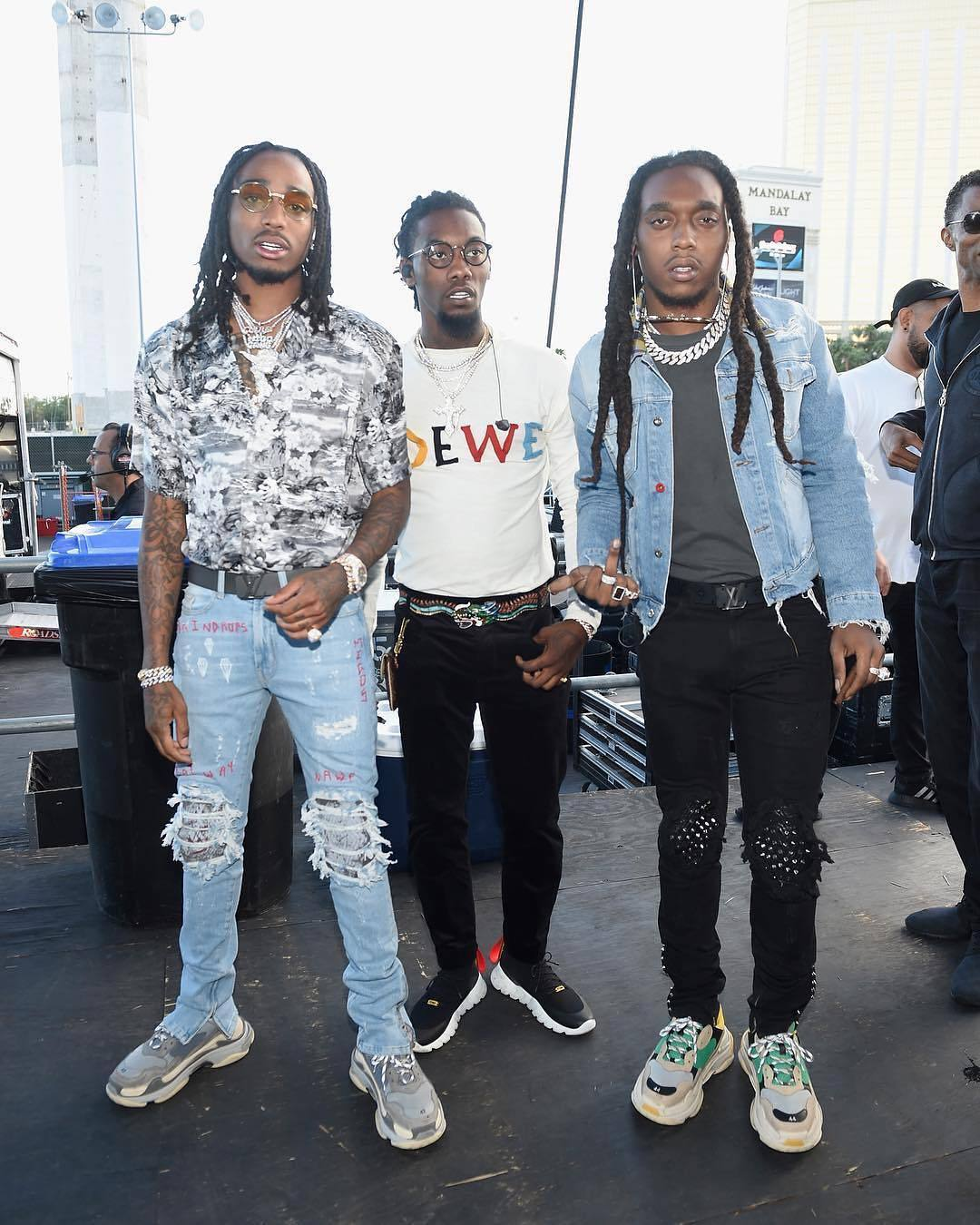 SPOTTED: Migos In Loewe, Gucci + Balenciaga Triple S Sneakers