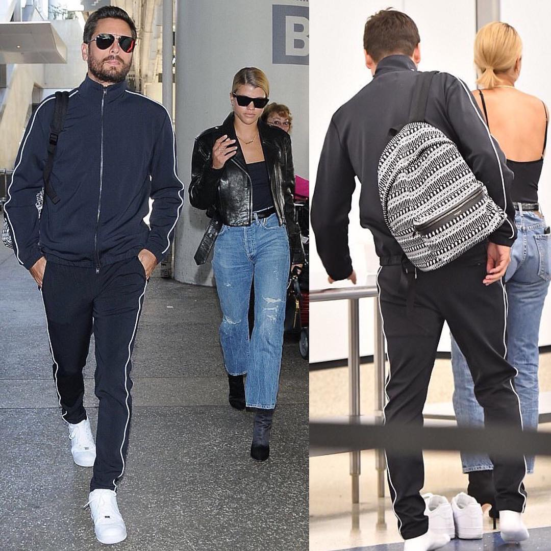 Scott Disick Sporting Stampd, Nike and