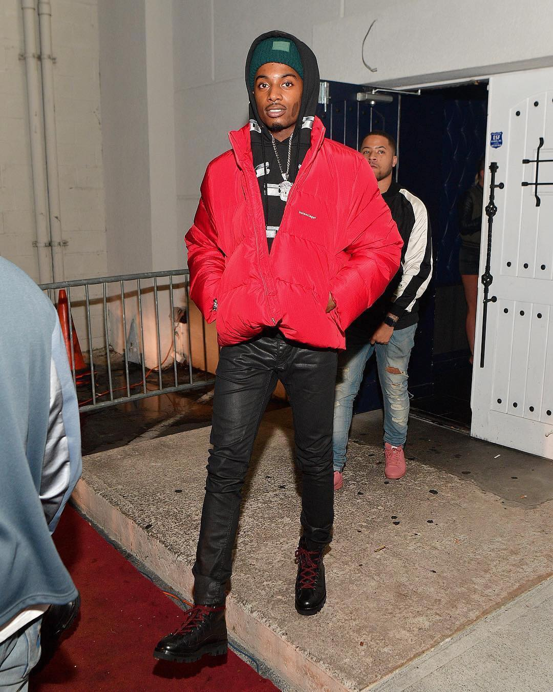 SPOTTED: Playboi Carti in Blood-Red Balenciaga