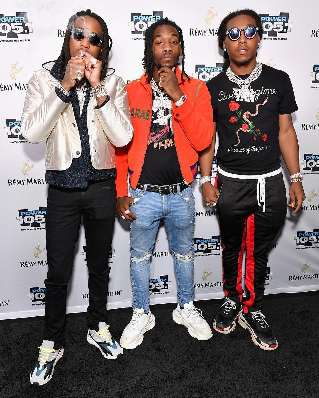 SPOTTED: The Migos Gang in Gucci, Yeezys, Balenciaga and More