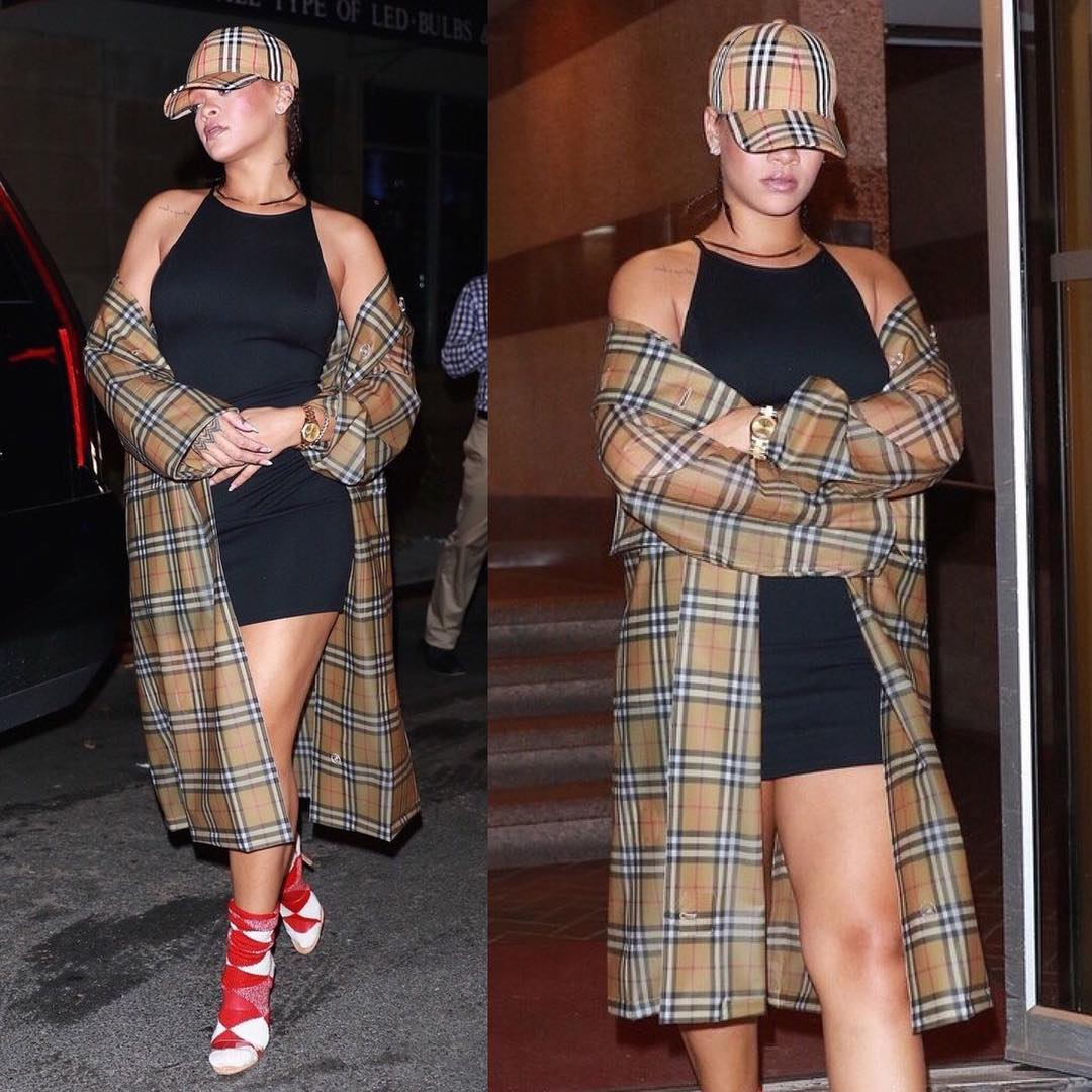 SPOTTED: Rihanna in Burberry