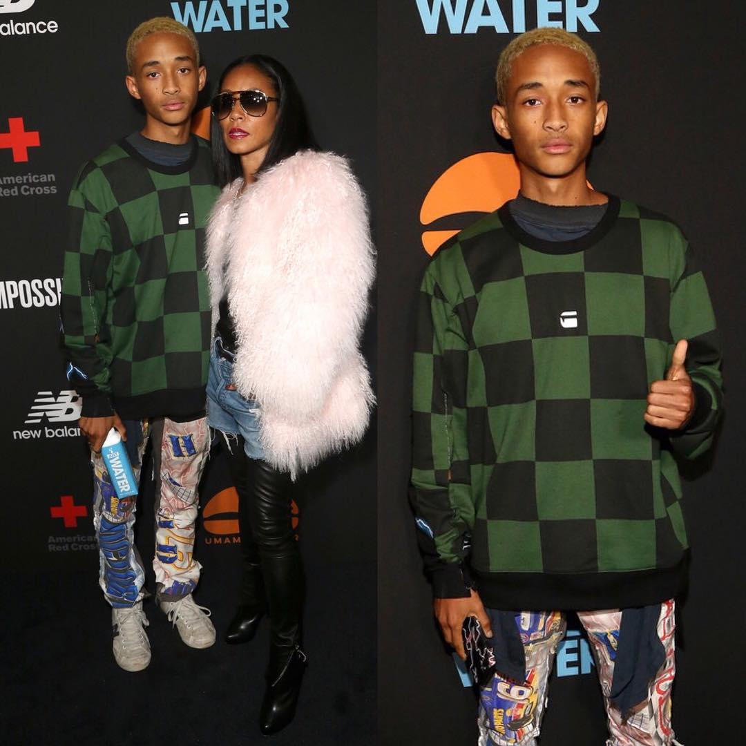 SPOTTED: Jaden Smith in G-Star RAW and MSFTSrep