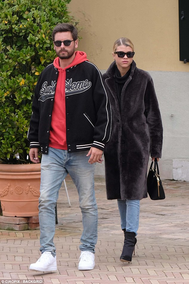 SPOTTED: Scott Disick In Supreme x Playboy Wool Varsity Jacket And Nike Air Force 1 Sneakers