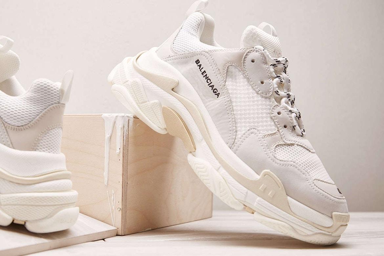Balenciaga's Cream Triple S Sneaker Raffle And Release