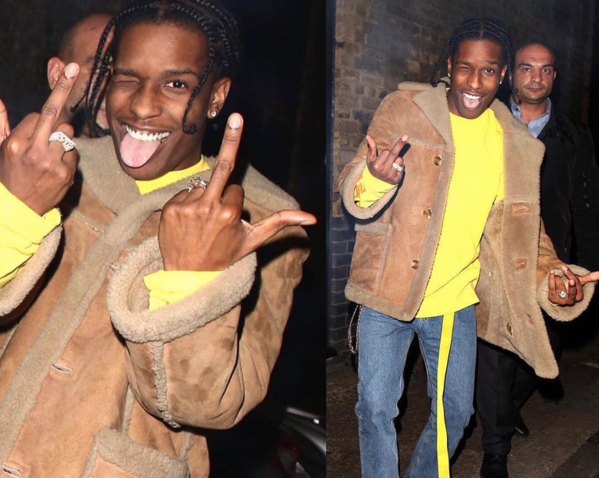 SPOTTED: A$AP ROCKY in MIDNIGHT STUDIOS, OFF-WHITE and Vans