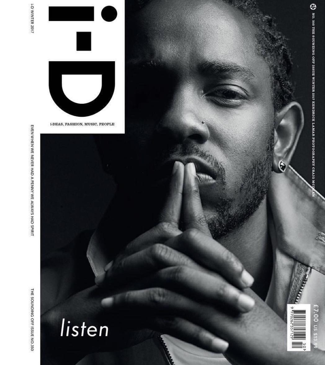 Kendrick Lamar Graces The Cover Of i-D Magazine