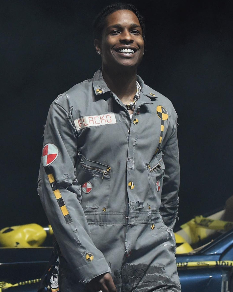 SPOTTED: A$AP Rocky Performs At Camp Flog Gnaw In Custom Flacko Overalls