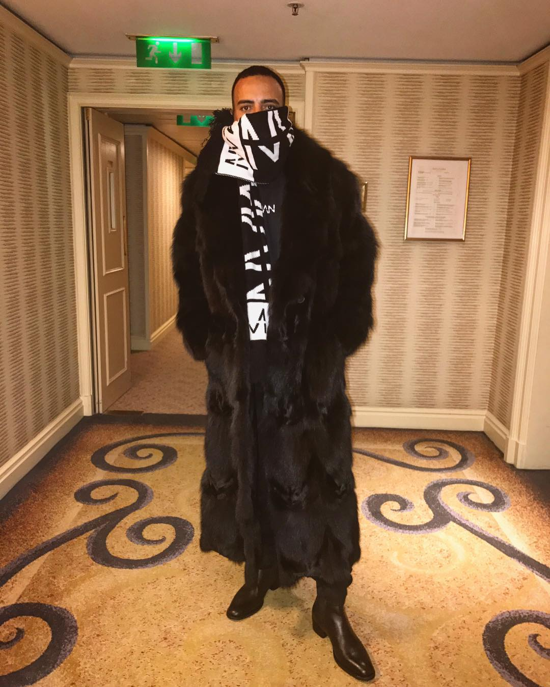 SPOTTED: French Montana Dressed For Winter in boohooMAN and More