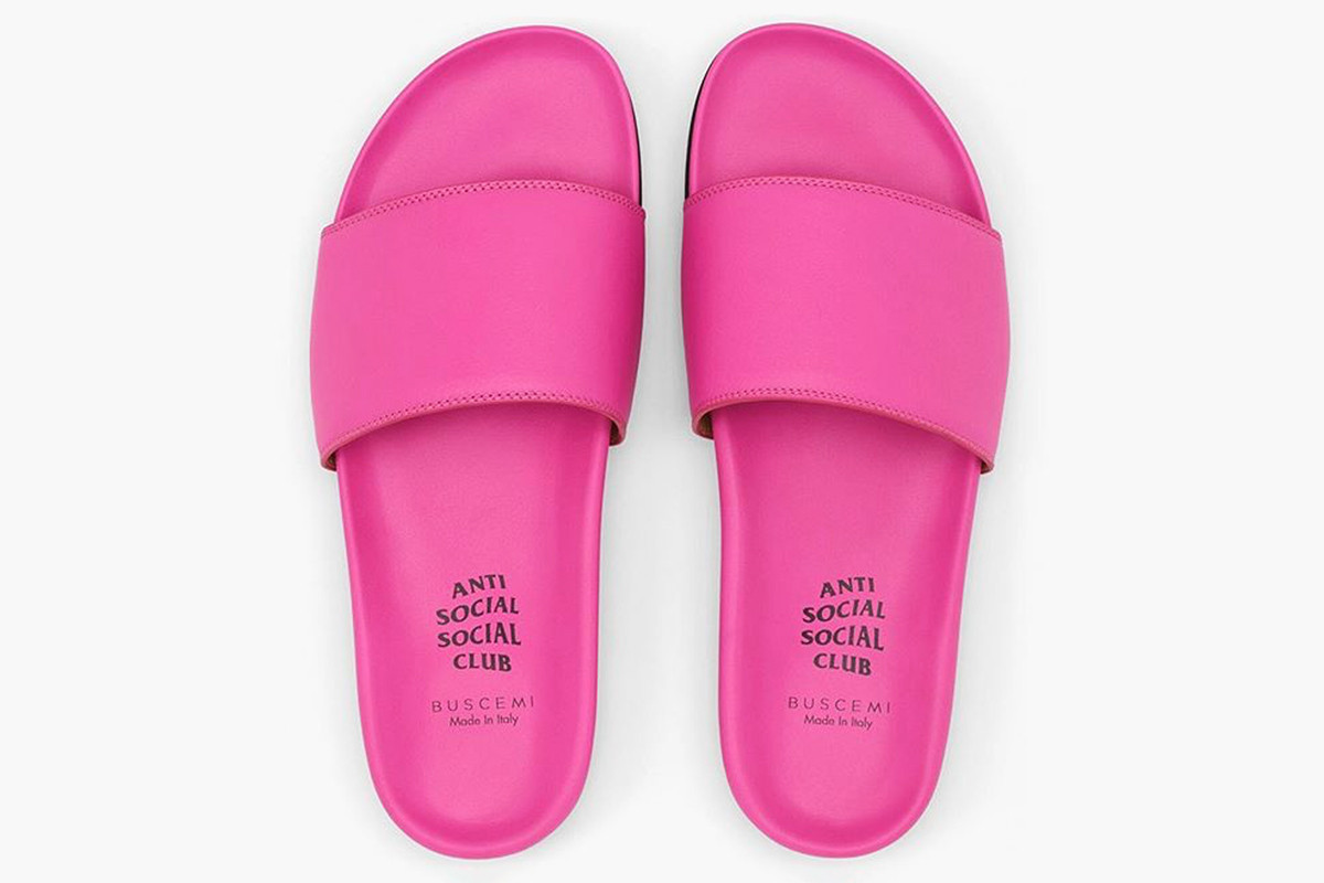 Yes These Anti Social Social Club x Buscemi Slides Do Actually Exist