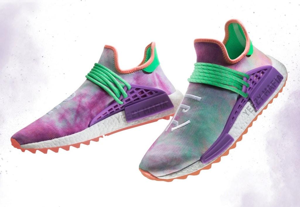 Here are The Pharrell x adidas Hu NMD 'Trail Holi' Variations