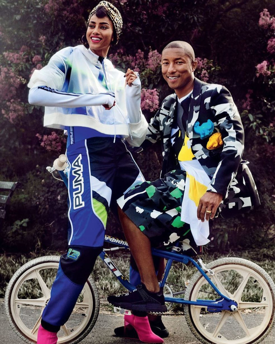 SPOTTED: Pharrell in Comme des Garçons and adidas Originals
