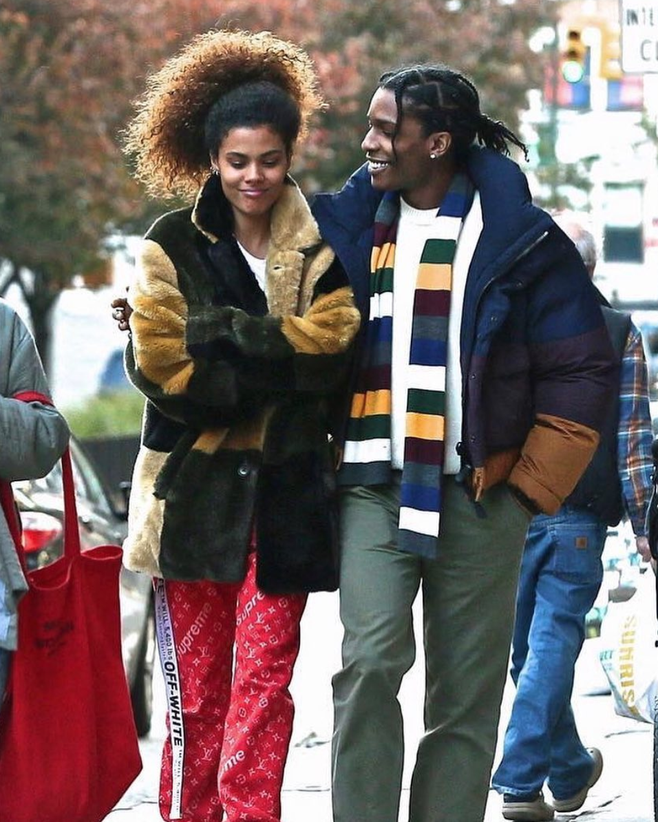 SPOTTED: A$AP Rocky In Burberry Colour Block Puffer Jacket