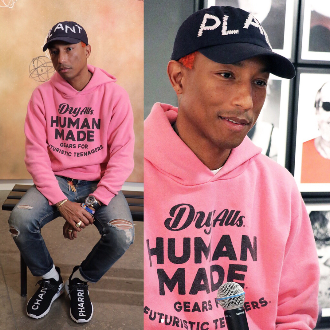 SPOTTED: Pharrell in the Chanel x Adidas x Pharrell NMD Hu Sneakers