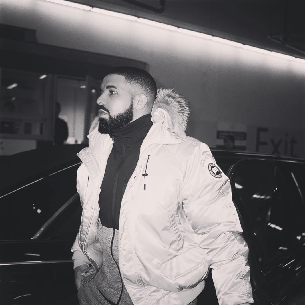SPOTTED: Drake wearing an OVO X Canada Goose Jacket