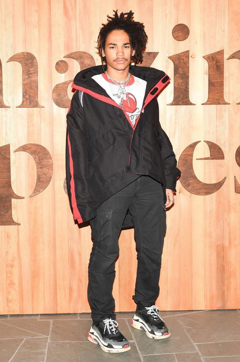 SPOTTED: Luka Sabbat In Balenciaga Jacket And Triple S Sneakers