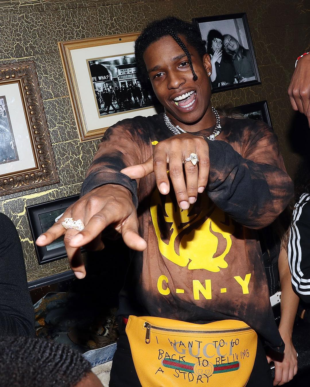SPOTTED: A$AP Rocky in Gucci and CNY.NYC