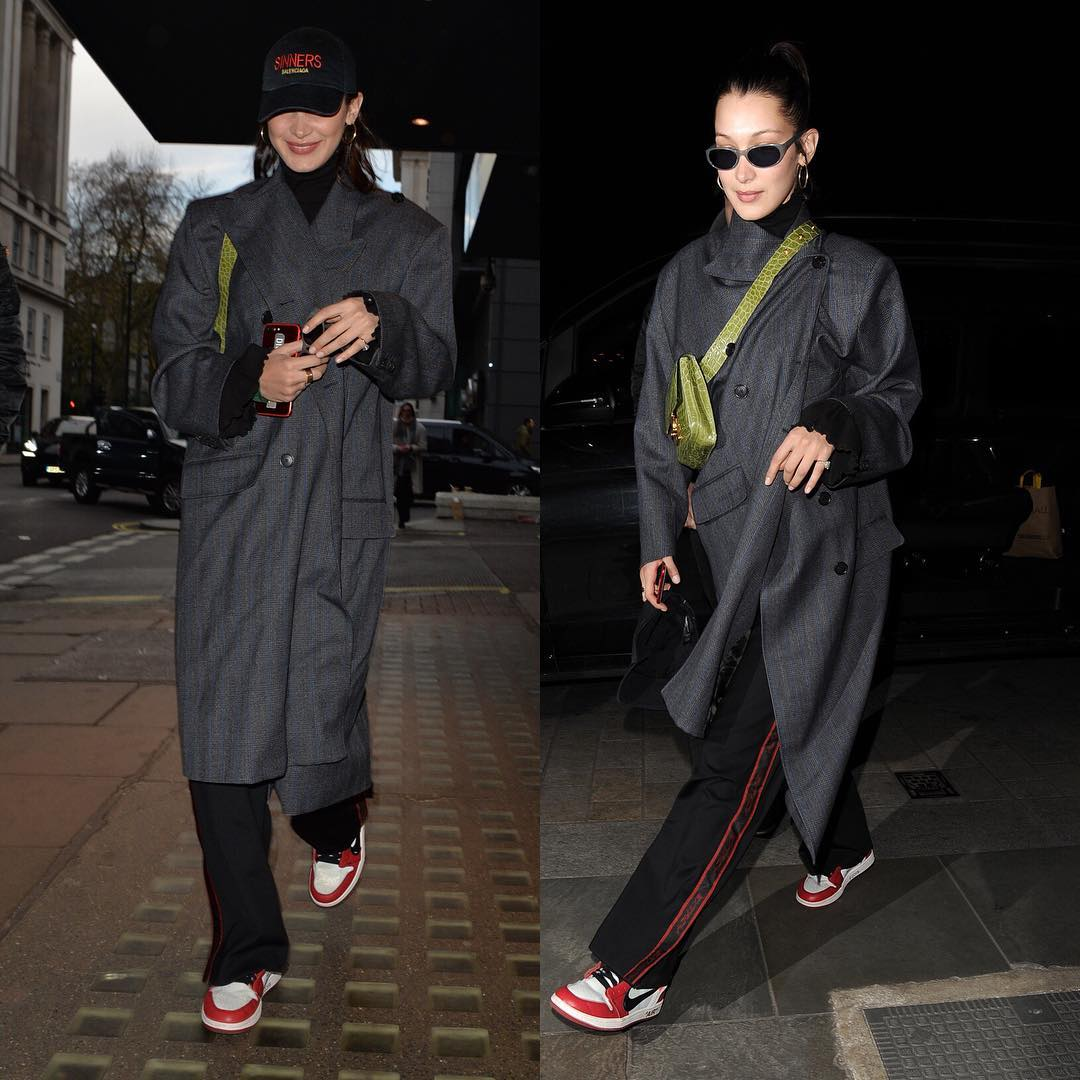 SPOTTED: Bella Hadid in Balenciaga and Nike x Off-White