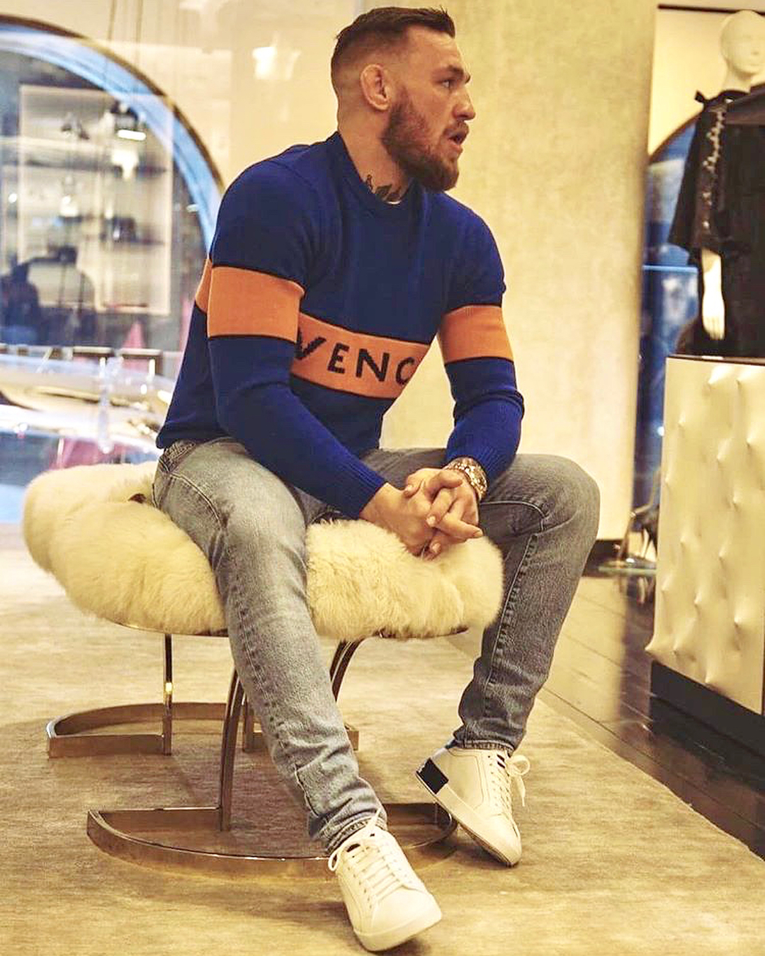 SPOTTED: Conor McGregor in Dolce & Gabbana and Givenchy