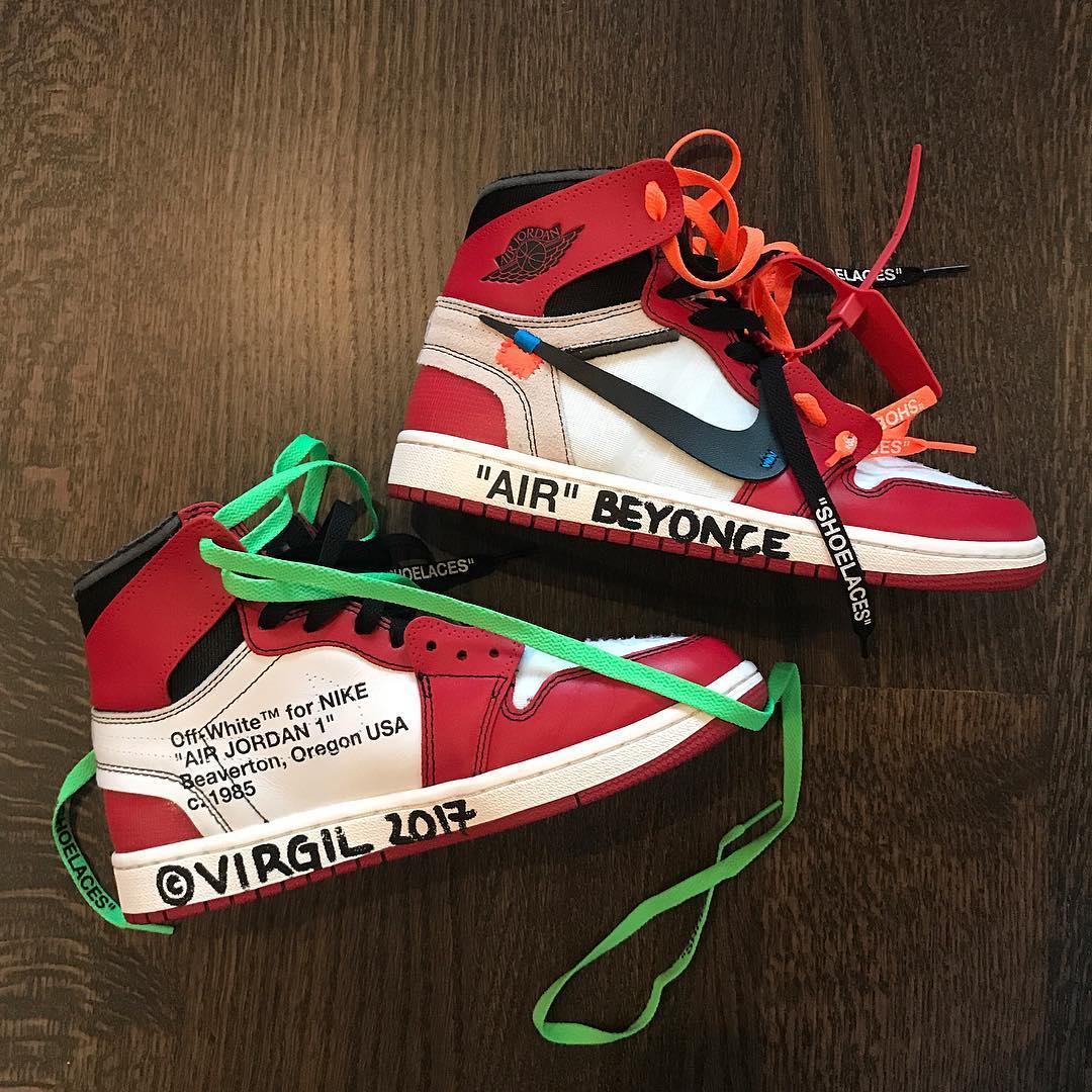 Virgil Abloh Gifts Beyoncé a Personalised Pair of Nike Air Jordan 1's