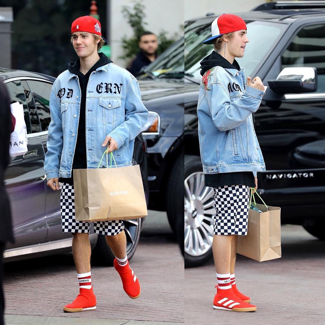 SPOTTED: Justin Bieber Sporting Gucci, Vetements and Gosha Rubchinskiy x adidas