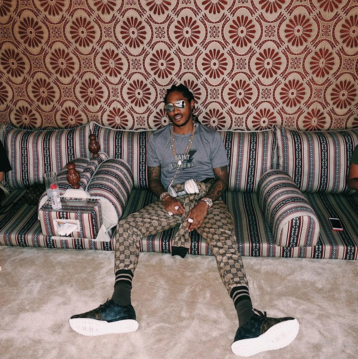 SPOTTED: Future In Gucci, Saint Laurent and Louis Vuitton