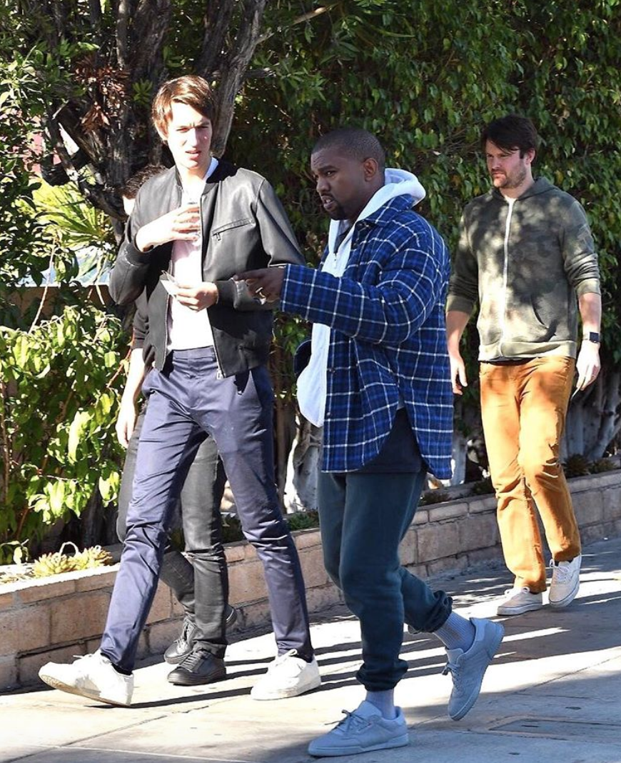 SPOTTED: Kanye West Stepping Out For Lunch In Yeezy And Balenciaga