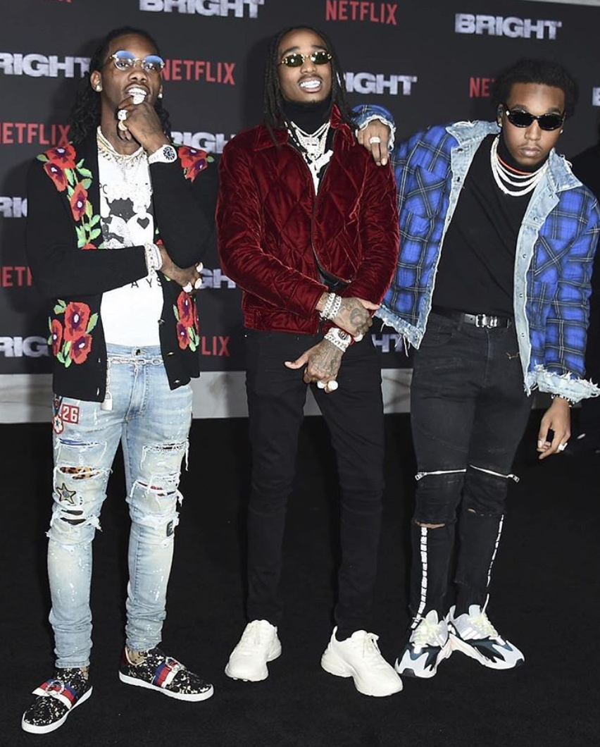SPOTTED: Migos Attending The Bright Premiere