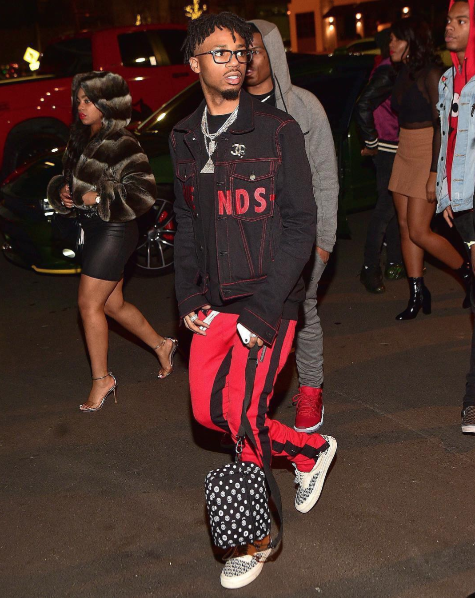 SPOTTED: Metro Boomin In Vlone Jacket & Fear Of God Pants