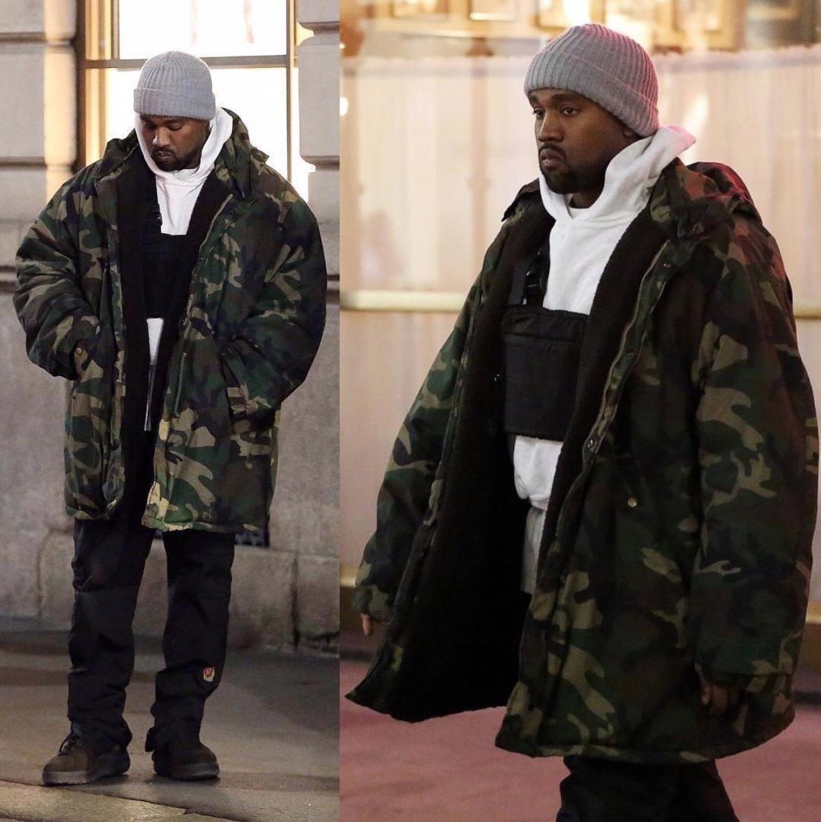 SPOTTED: Kanye West In Milan Wearing Alyx Studio & Yeezy Season