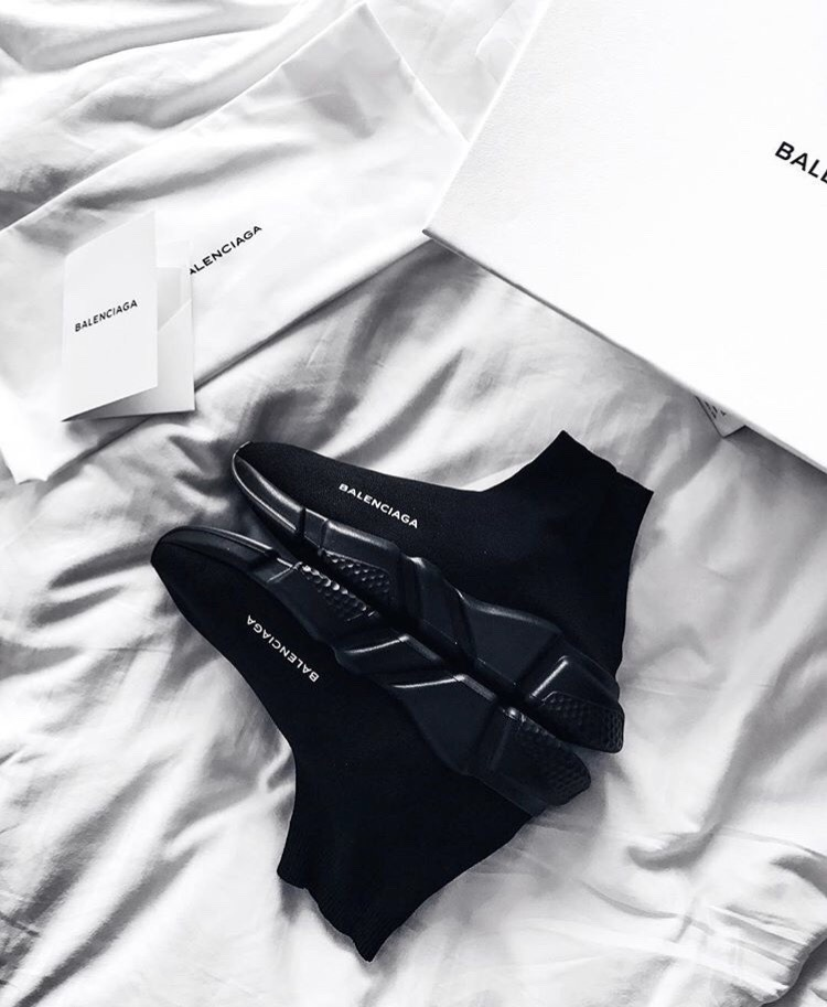 Restock: Balenciaga Sock Sneakers In All Black