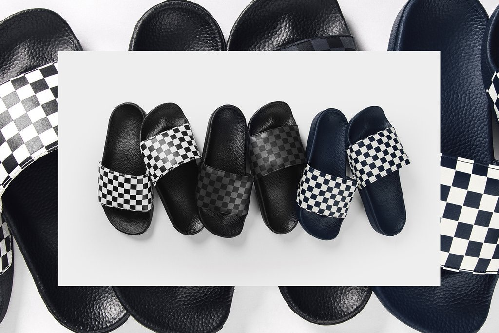 Get Your Hands on These Vans Checkerboard Slides