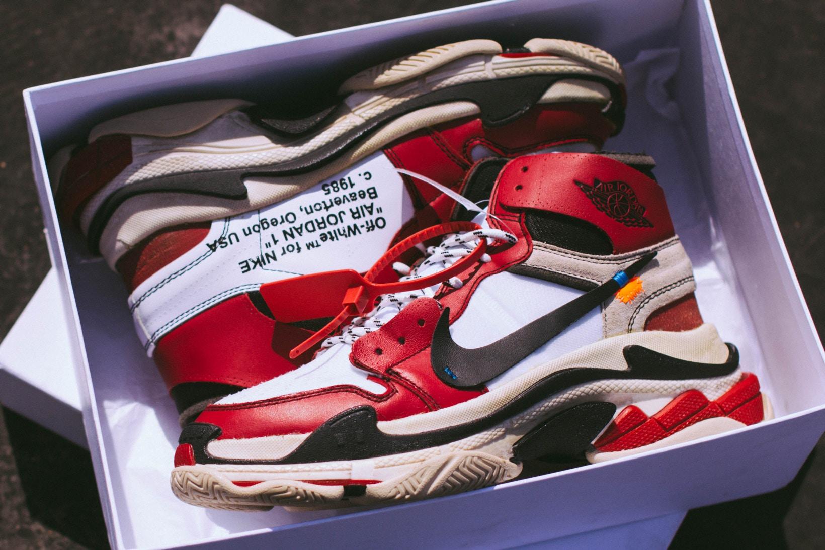 These Customs Make a Virgil Abloh x Air Jordan 1 x Balenciaga Triple S a Reality