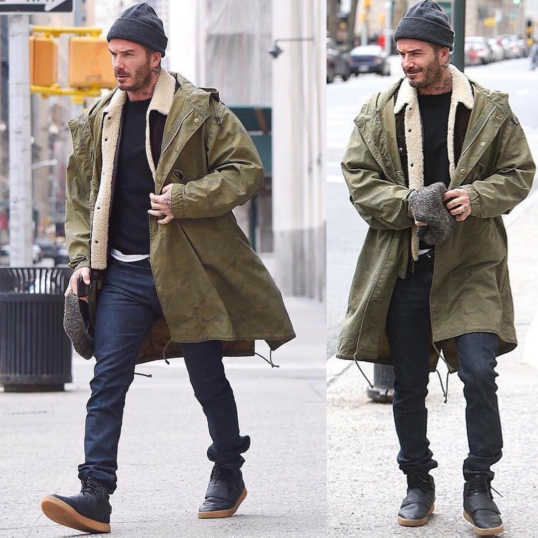 SPOTTED: David Beckham in Kent & Curwen and Adidas