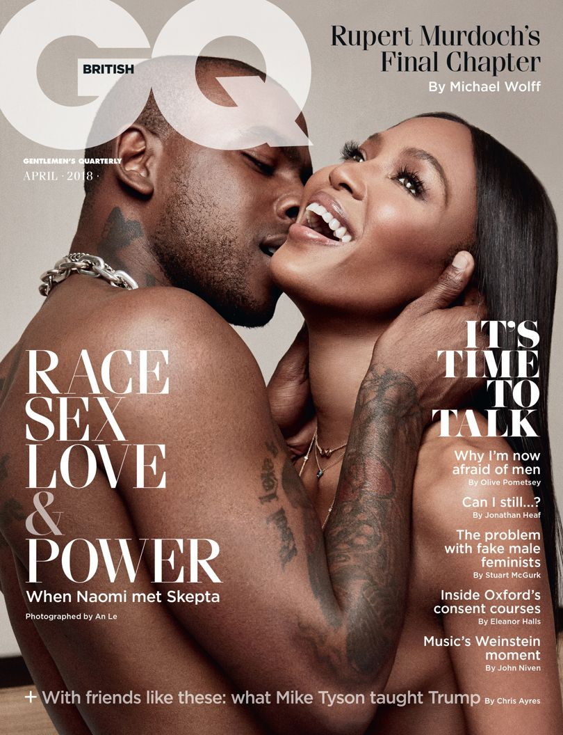 Naomi Campbell and Skepta Grace GQ's Cover